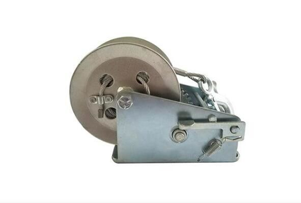 Zinc Plated Hand Crank Boat Winch 2500lb 3000lb 3500lb With Cable Or Strap